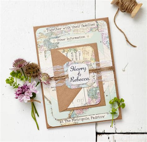 wedding invitation map template travel inspired map wedding invitation set by peardrop