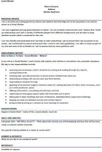 Social Work Resume Exle by Resume Sle Social Worker Resume Sle Social Services Objective Statement Resume Social