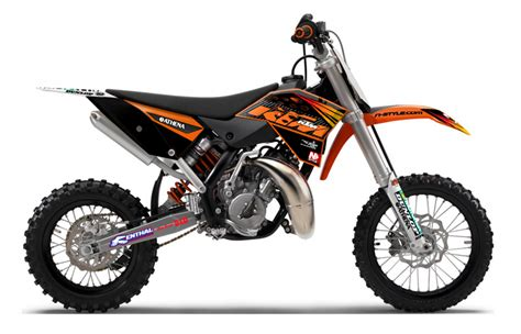 Ktm Powerparts Graphics Ktm Factory Graphics Kit Black 09 12 50 Sx Aomc Mx