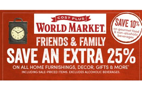 the home decorating company coupon world market friends family coupon extra 25 off