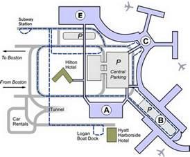 Boston Terminal Map boston airport terminal map