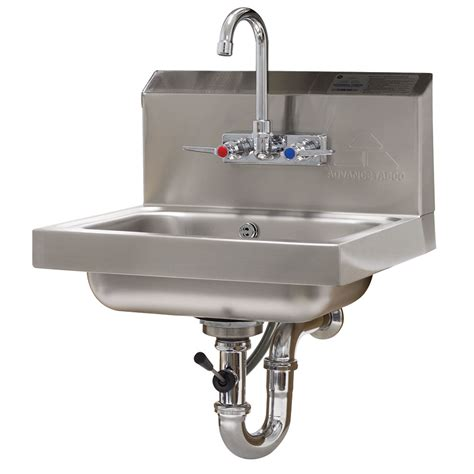 advance tabco sink advance tabco 7 ps 50 wall mount commercial sink w