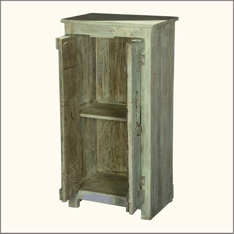 Small Storage Cabinet Furniture Small Storage Cabinet Made Of Reclaimed Wood In Distressed Style Two Door