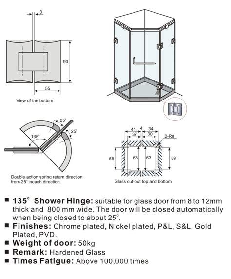 Akiril Padat Akrilik Bulat Padat 5mm 135 gelar shower pintu engsel untuk 5 16 quot untuk 1 2 quot tempered safety glass sdh 802 135