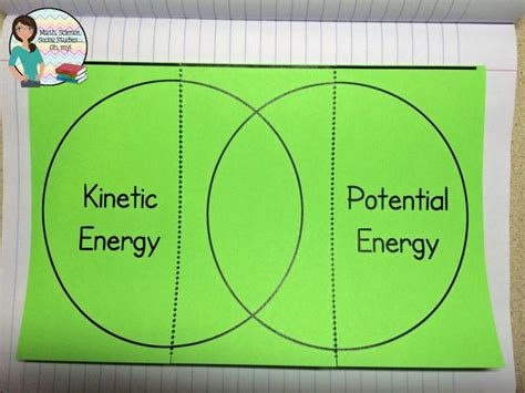kinetic and potential energy venn diagram foldable friday kinetic and potential energy math