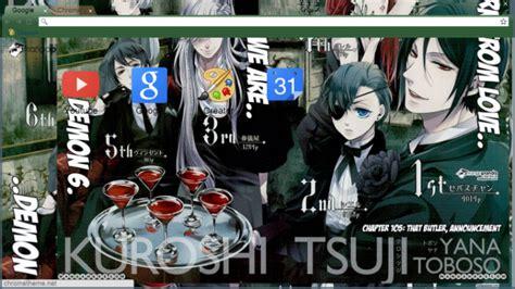 google chrome themes anime kuroshitsuji black butler demon 6 chrome theme themebeta
