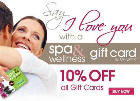 Spa And Wellness Gift Card Spa Week - valentine s day sale 10 off spa wellness gift cards by spa week