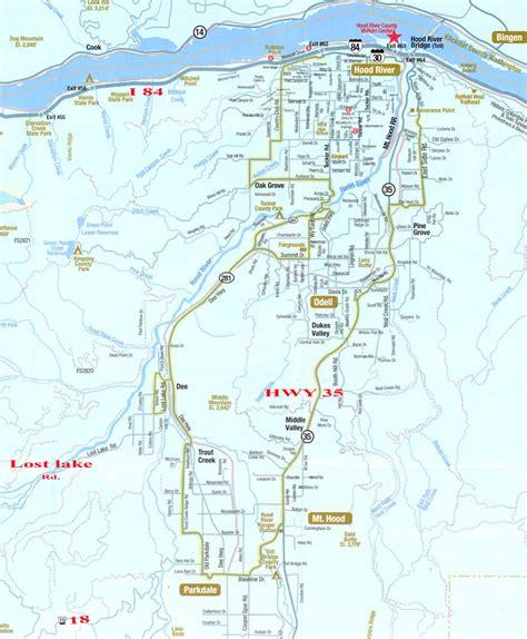 lakes in oregon map lost lake river county oregon