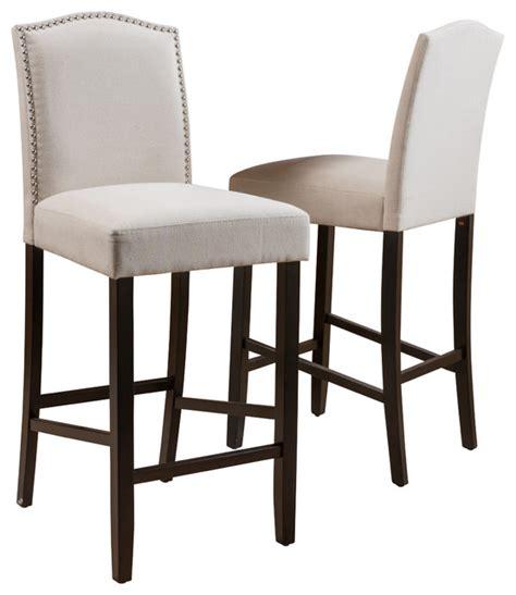 Bar Stools Fabric auburn fabric backed bar stools set of 2 ivory