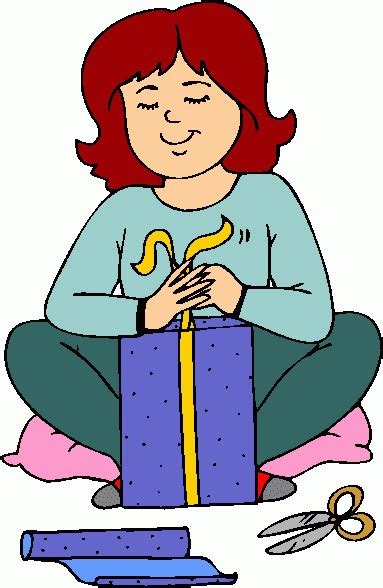 gift wrapping gift wrapping clipart 34
