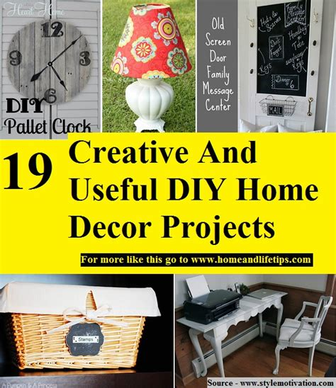 19 creative and useful diy home decor projects home and