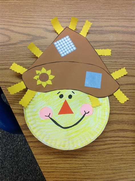Scarecrow Paper Plate Craft - fantastic graders september 2012
