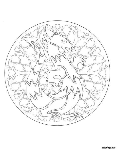 dragon mandala coloring page coloriage coloring mandala dragon 1 jecolorie com