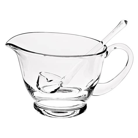 gravy boat with ladle crystal gravy boat with ladle ny256 the home depot
