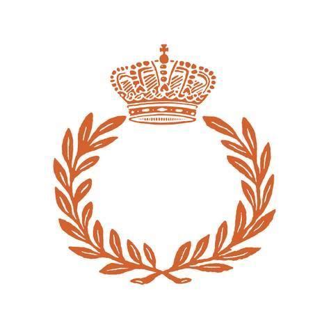 printable laurel leaf crown laurel wreath crown border art print by pop ink csa