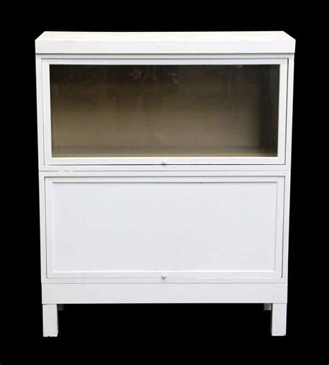 vintage white bookcase vintage white steel barrister bookcase olde things