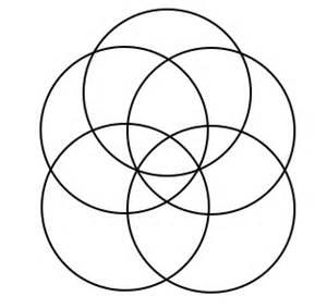 venn diagram 5 circles template venn ding math