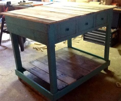 pallet kitchen island diy pallet kitchen island with drawers pallet furniture