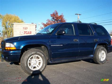 dodge durango slt   patriot blue pearl photo    american automobiles