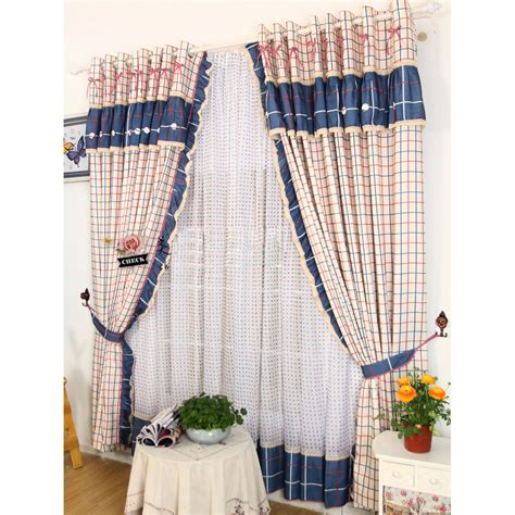navy plaid curtains rustic plaid pattern navy and red country curtains