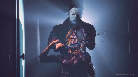 michael myers x laurie michael myers laurie strode dead by daylight