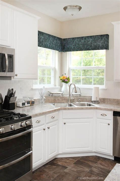 Kitchen Without Cornice by Diy Kitchen Window Cornices Window Treatments Home And