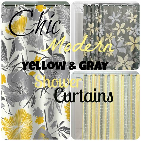 gray and yellow shower curtain shower curtains yellow grey room ornament
