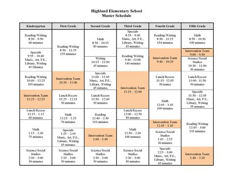 Pin Class Schedule Template Elementary On Pinterest Elementary School Morning Announcements Template