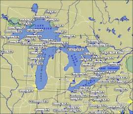 map of lakes great lakes illinois map