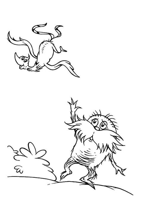 lorax coloring pages printable dr seuss the lorax coloring pages for