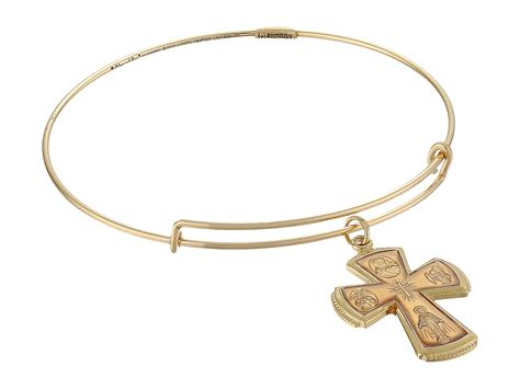 alex and ani precious sacred cross expandable wire ring in
