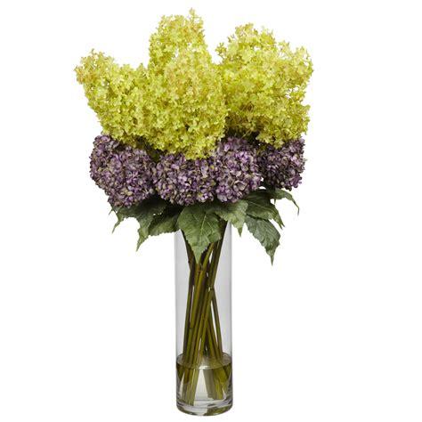 Hydrangea Arrangements Vases by Mixed Hydrangea Silk Arrangement 1222 Nearly