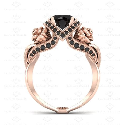 lamour ct natural black diamonds rose gold