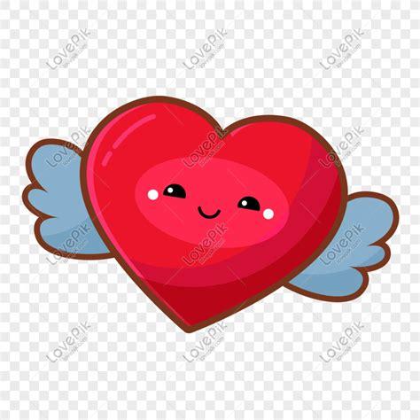 hari valentine kartun smiley love gambar  gratis