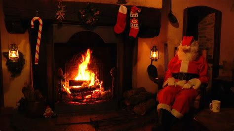 Jazz Fireplace by Crackling Fireplace With Santa And Relaxing