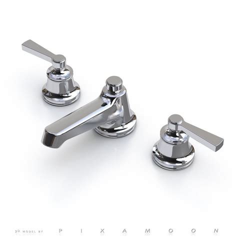 Waterworks Faucets by Waterworks Transit Faucet With Lever Handles 3d Model Max