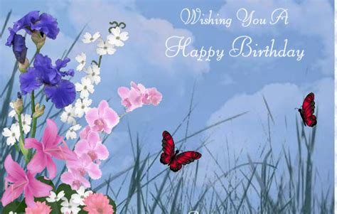 Happy Birthday Wishes Butterfly Free Online Greeting Cards Ecards Animated Cards