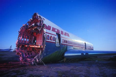 United Airline Baggage by The Mojave Airport Boneyard Lost America
