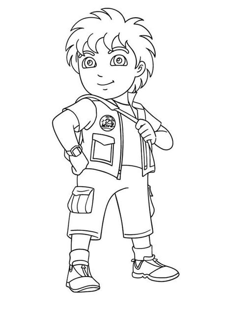 go coloring page go diego go coloring pages free printable go diego