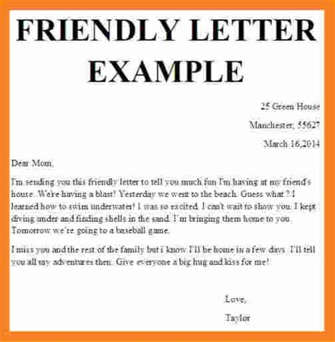 friendly cover letter 11 friendly letter format template invoice template