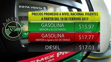 gasolina pagada en efectivo 2016 a partir del 18 de febrero los precios m 225 ximos de las