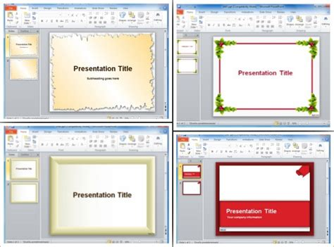 Page Borders For Powerpoint Presentations How To Make Ppt Template 2007