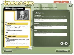 Build Your Own Trading Card Template by The Trading Card Tool Gives Students An Alternative Way To