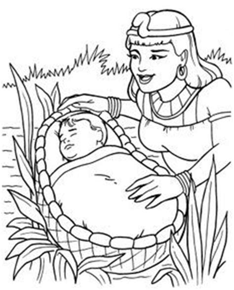 coloring pages of baby moses and miriam bible story coloring pages on pinterest bible coloring