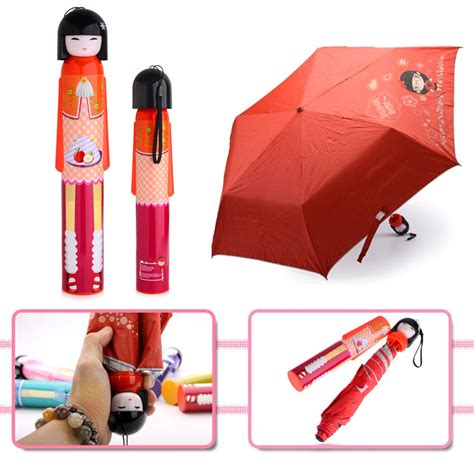 kimono doll design umbrella novelty kokeshi doll folding umbrella japanese dolls cute