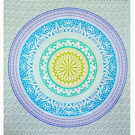 colorful tapestry colorful trippy ombre medallion mandala tapestry wall