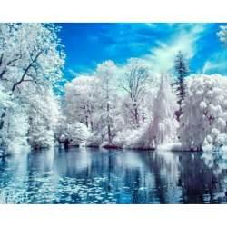 Nouvelle aiguille diamant peinture belle neige d hiver paysage diamant