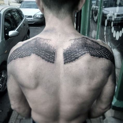 badass back tattoos unique black ink engraving style back of