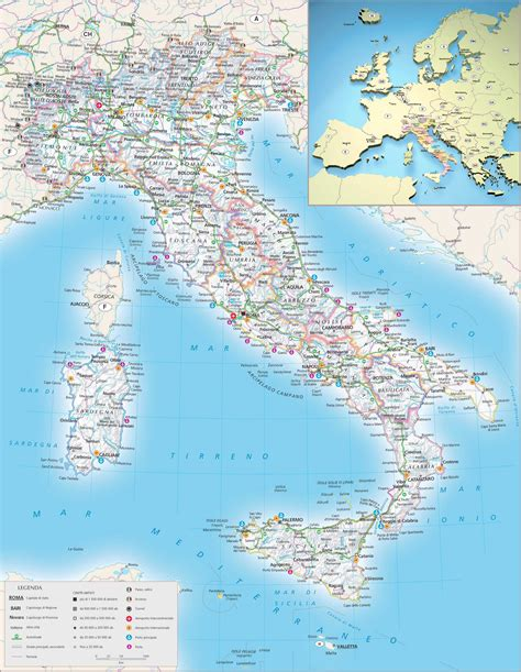 map of citys maps of italy detailed map of italy in tourist