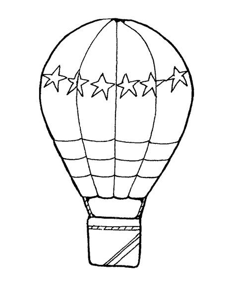 coloring page for hot air balloon free coloring pages of hot air balloon